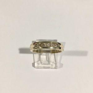 14k Yellow Gold Diamond 💎 Wedding 👰 Band Ring